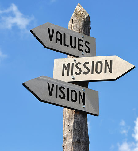 vison mission and values
